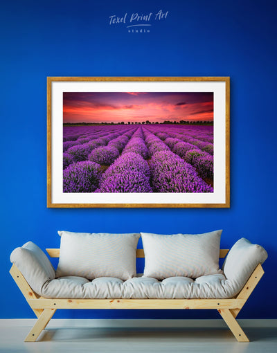 Framed Purple Wild Flower Wall Art Print - bedroom Flora Floral flower framed