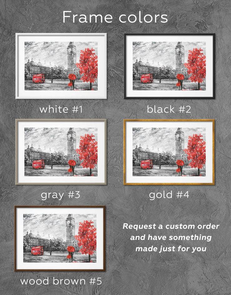Framed Rainy-day Date Wall Art Print - bedroom Contemporary contemporary wall art framed print framed wall art