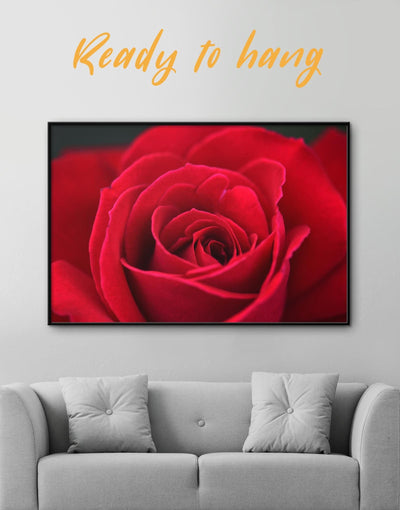 Framed Red Rose Wall Art Canvas - Canvas Wall Art bedroom flora Floral flower framed canvas