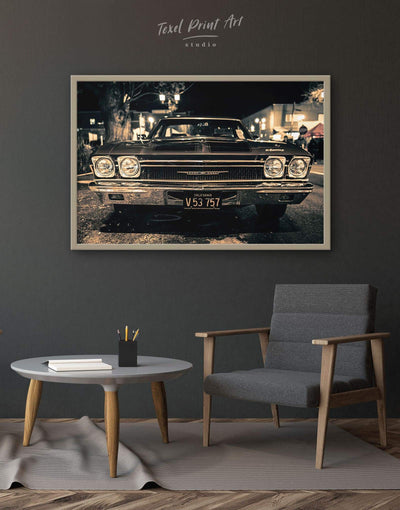 Framed Retro Car Wall Art Canvas - bachelor pad Car framed canvas garage wall art Hallway