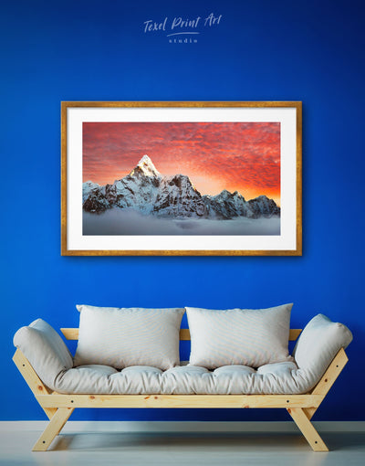 Framed Rocky Mountains Wall Art Print - bedroom framed print landscape wall art Living Room mountain wall art