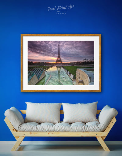 Framed Romantic Paris Wall Art Print - bedroom City Skyline Wall Art Cityscape eiffel tower wall art framed print