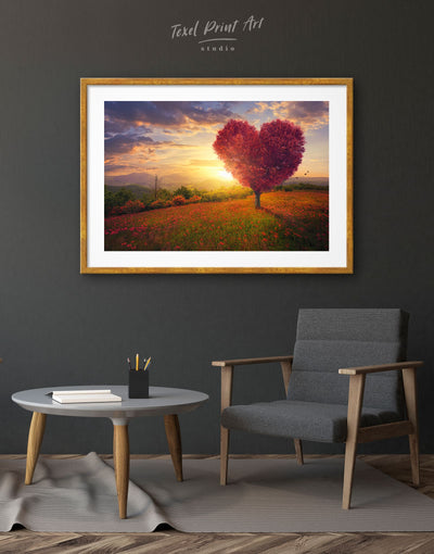 Framed Romantic Wall Art Print - bedroom Dining room framed print Hallway landscape wall art