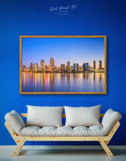 Framed San Diego Wall Art Canvas