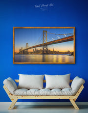 Framed San Francisco Skyline Wall Art Canvas