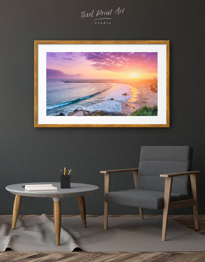 Framed Sea Sunset Wall Art Print - Wall Art bedroom framed print Living Room