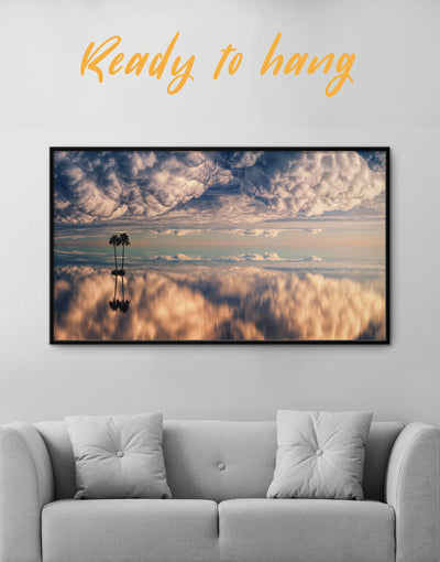 Framed Seascape Wall Art Canvas - Canvas Wall Art Beach House bedroom framed canvas Hallway Living Room