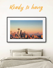Framed Seattle Panorama Wall Art Print