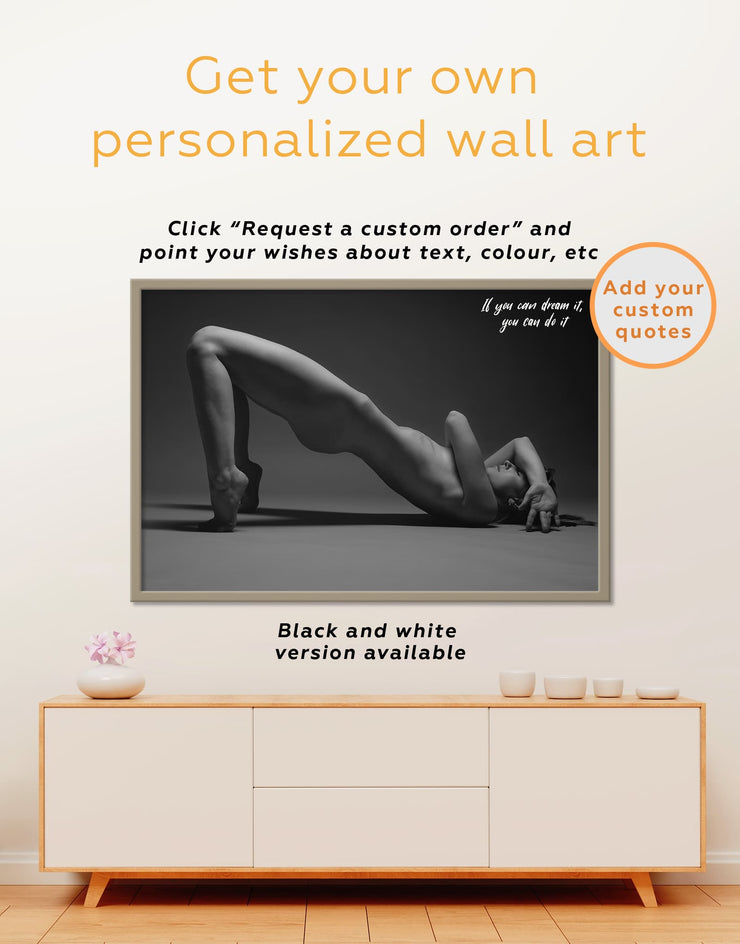 Framed Sexual Wall Art Canvas - bachelor pad bedroom black and white framed wall art black and white wall art Erotic