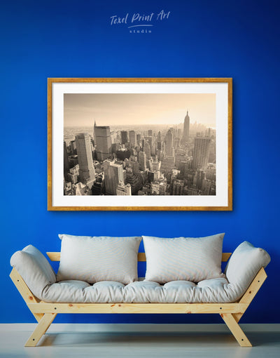 Framed Skyscrapers of New York Cityscape Wall Art Print - bedroom City Skyline Wall Art contemporary wall art Dining room framed