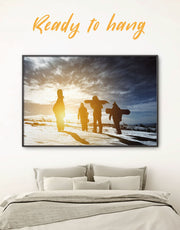 Framed Snowboarders Wall Art Canvas