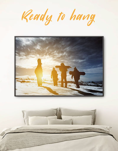 Framed Snowboarders Wall Art Canvas - framed canvas framed wall art inspirational wall art Motivational Nature