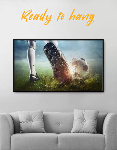 Framed Soccer Wall Art Canvas - Canvas Wall Art framed canvas