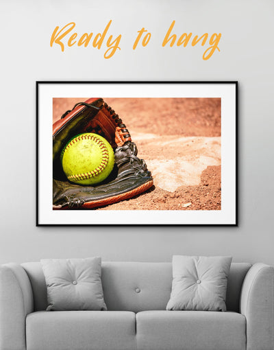 Framed Softball Wall Decor Print - Wall Art framed print Living Room Office Wall Art softball Sports