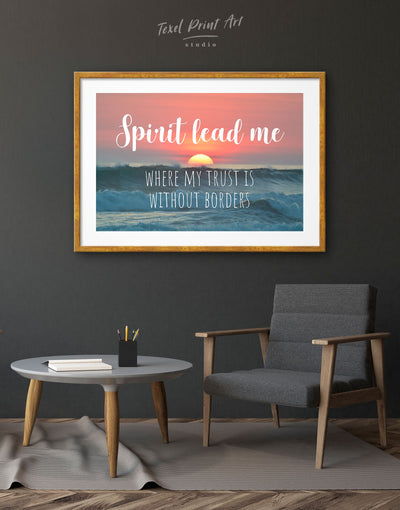 Framed Spirit Lead Me Where My Trust Is Without Borders Wall Art Print - Wall Art bedroom framed print Hallway Living Room Office Wall Art