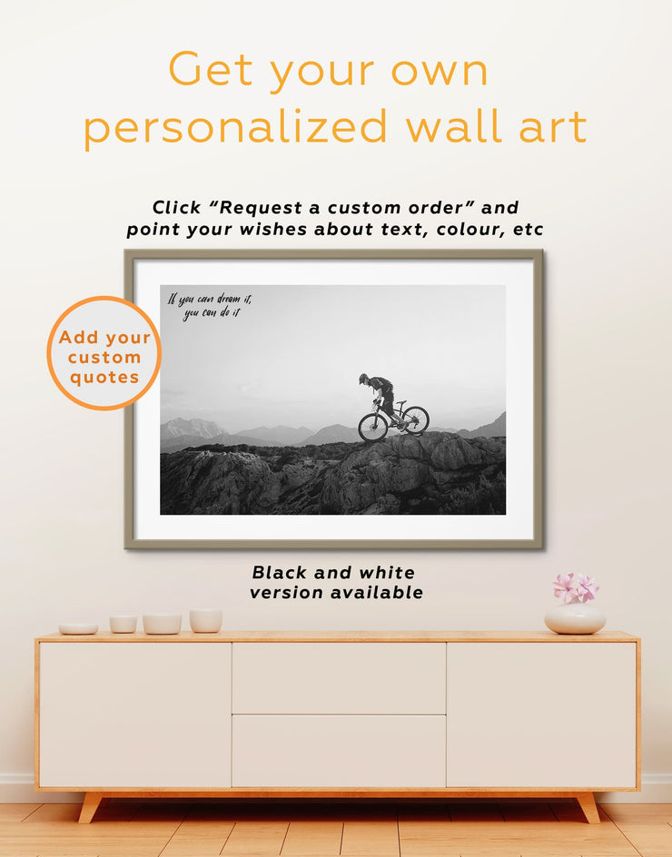 Framed Sports Bicycle Wall Art Print - bedroom bicycle wall art framed print framed wall art inspirational wall art