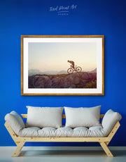 Framed Sports Bicycle Wall Art Print