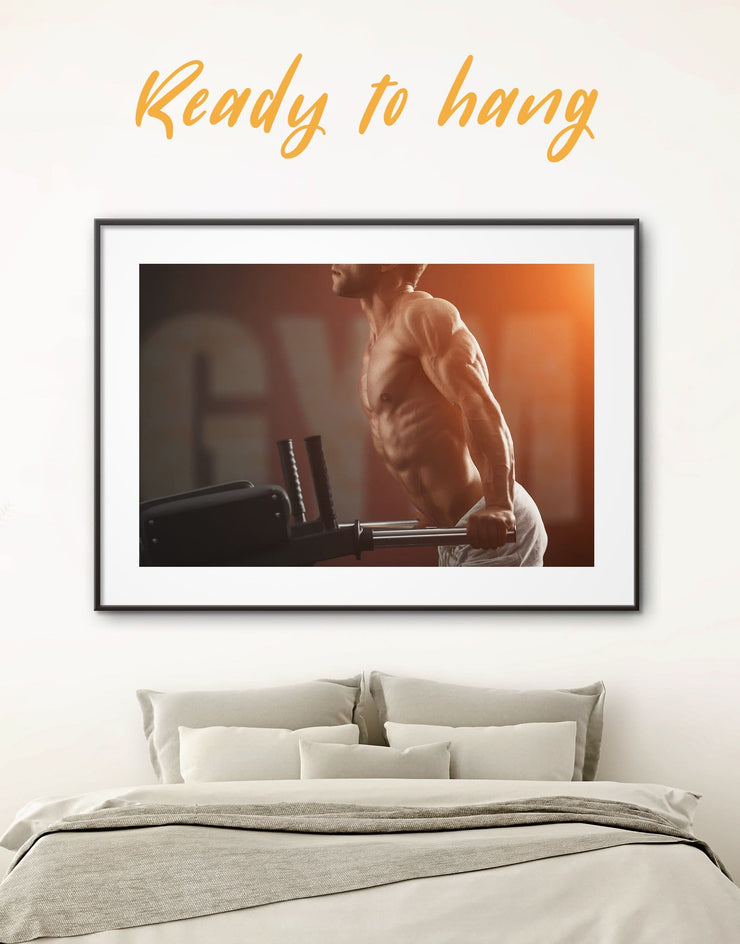 Framed Sportsman Wall Art Print - bachelor pad framed print framed wall art Home Gym inspirational wall art