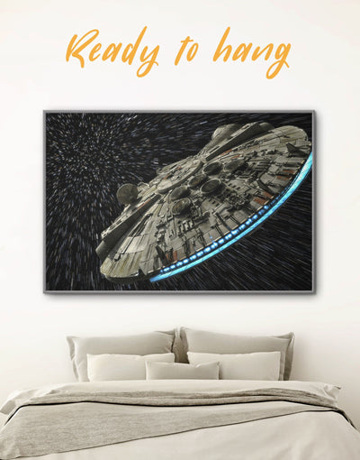 Framed Star Wars Spaceship Wall Art Canvas - bedroom black and grey wall art framed framed canvas Hallway