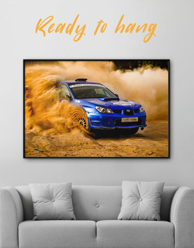 Framed Subaru Impreza Wall Art Canvas - bachelor pad car framed canvas garage wall art manly wall art