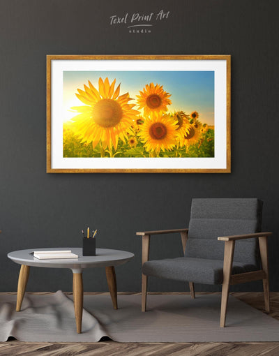 Framed Sunflowers Field Wall Art Print - Wall Art bedroom flora Floral flower framed print
