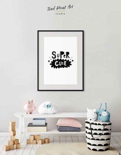 Framed Super Cute Monochrome Nursery Art Print - Wall Art black black and white framed print Kids room kids wall art