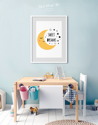 Framed Sweet Dream Nursery Wall Art Print - Wall Art framed print Kids room kids wall art Nursery Nursery Framed Wall Art