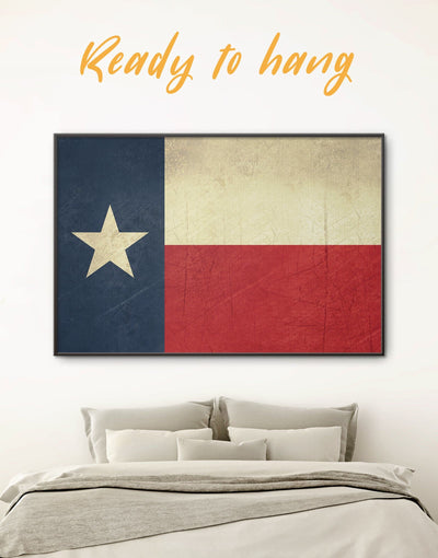 Framed Texas Flag Wall Art Canvas - Flag Wall Art framed canvas Living Room modern wall art Office Wall Art