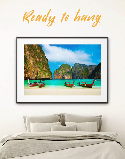 Framed Thai Beach Wall Art Print - Beach House beach wall art bedroom coastal wall art Dining room