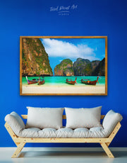 Framed Thai Coast Wall Canvas