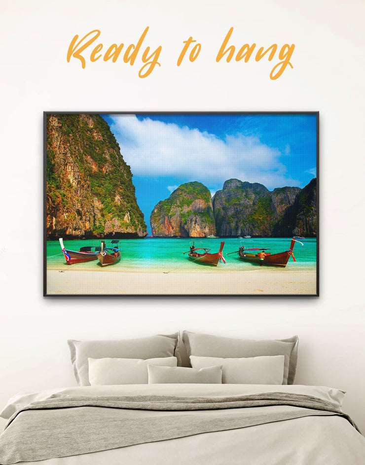Framed Thai Coast Wall Canvas - Beach House beach wall art bedroom coastal wall art Dining room