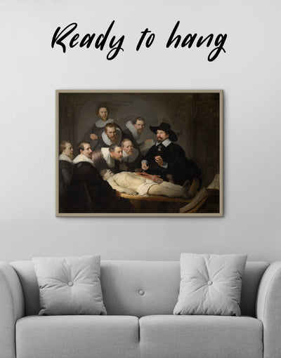 Framed The Anatomy Lesson of Dr. Nicolaes Tulp Rembrandt Wall Art Canvas - Canvas Wall Art bedroom Black framed canvas Hallway Living Room