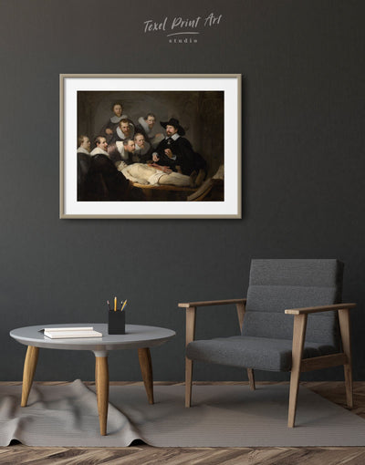 Framed The Anatomy Lesson of Dr. Nicolaes Tulp Rembrandt Wall Art Print - Wall Art bedroom Black framed print Hallway Living Room