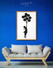 Framed The Girl with the Balloons by Banksy Wall Art Canvas