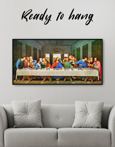 Framed The Last Supper by Leonardo da Vinci Wall Art Canvas - Canvas Wall Art framed canvas