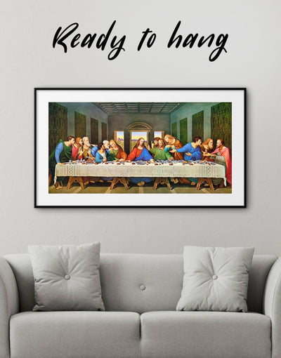 Framed The Last Supper by Leonardo da Vinci Wall Art Print - Wall Art framed print