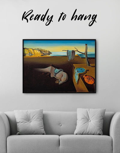 Framed The Persistence of Memory by Salvador Dali Wall Art Canvas - Canvas Wall Art Abstract bedroom framed canvas Hallway Living Room
