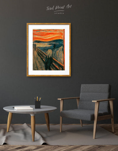 Framed The Scream by Edward Munch Wall Art Print - Wall Art bedroom framed print Hallway Living Room Munch