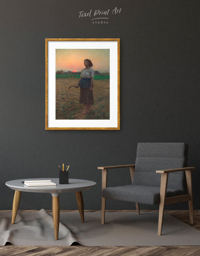 Framed The Song Of The Lark by Jules Breton Wall Art Print - Wall Art bedroom framed print Hallway Jules Breton Living Room