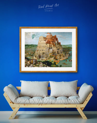 Framed Tower of Babel by Bruegel Wall Art Print - framed print