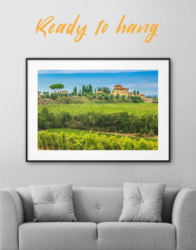 Framed Tuscany Italy Wall Art Print - bedroom Dining room framed print Hallway Italy wall art