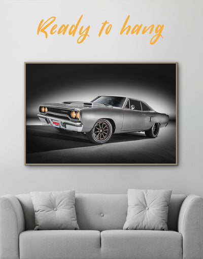 Framed Vintage American Car Wall Art Canvas - bachelor pad bedroom Car framed canvas garage wall art