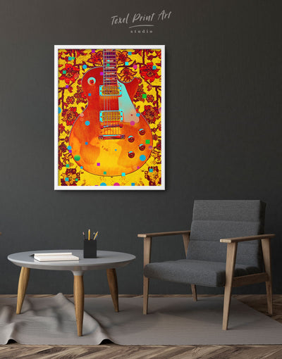 Framed Vivid Music Wall Art Canvas - bedroom framed canvas Living Room Music studio Musical