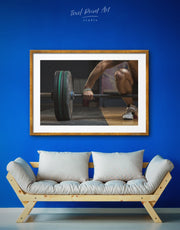Framed Weightlifting Wall Art Print