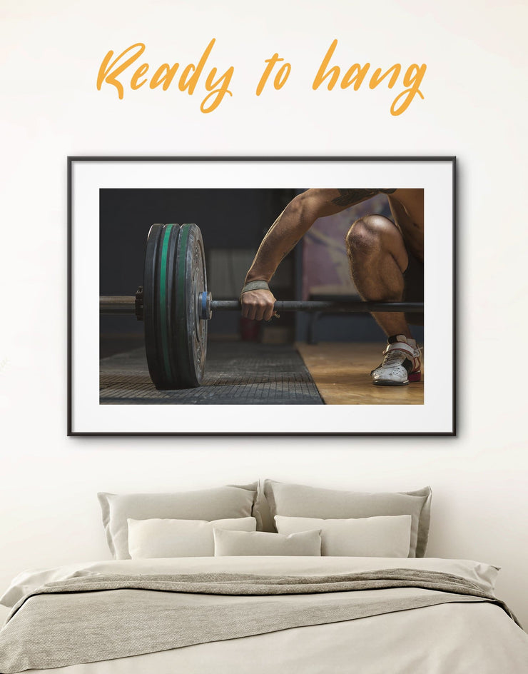Framed Weightlifting Wall Art Print - framed print Home Gym inspirational wall art manly wall art Motivational
