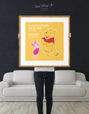 Framed Winnie the Pooh Friendship Quote Wall Art Print