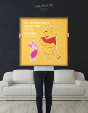 Framed Winnie the Pooh Quote Friendship Citation Wall Art Canvas