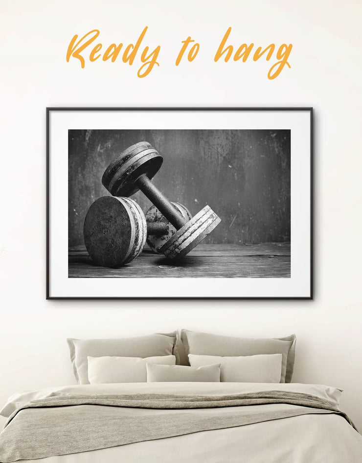 Framed Workout Wall Art Print - black and white framed wall art black and white wall art framed print framed wall art Home Gym
