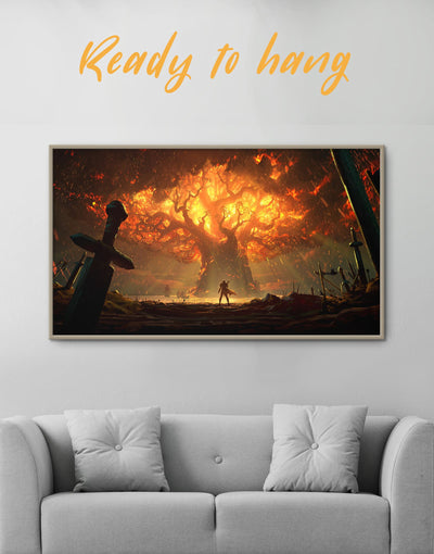 Framed WoW Wall Art Canvas - Canvas Wall Art bachelor pad bedroom framed canvas Hallway Living Room