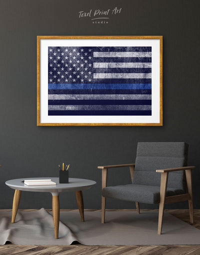 Frames USA Flag Wall Art Print - Wall Art American flag Blue Blue wall art for living room flag wall art framed print